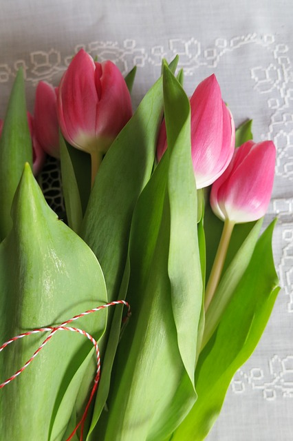 Сценки на 8 Марта - букет тюльпанов к празднику